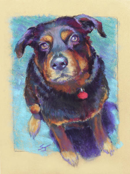 Rottweiler Painting - Those Eyes by Susan Jenkins
