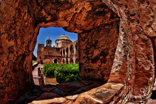 Photograph - Though The Window Mission San Jose San Antonio Texas  by Blake Richards