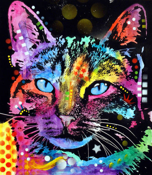 Wall Art - Painting - Thoughtful Cat by Dean Russo Art