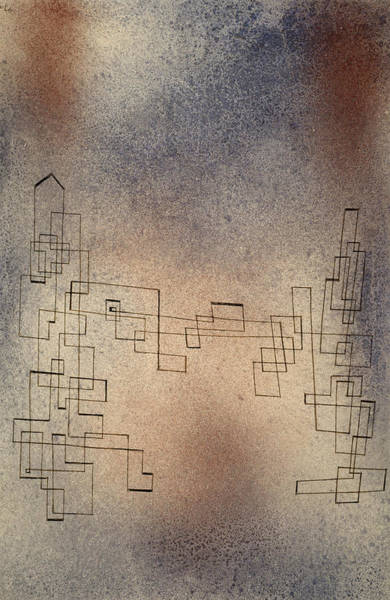 Wall Art - Painting - Threatening Snowstorm, 1927 by Paul Klee
