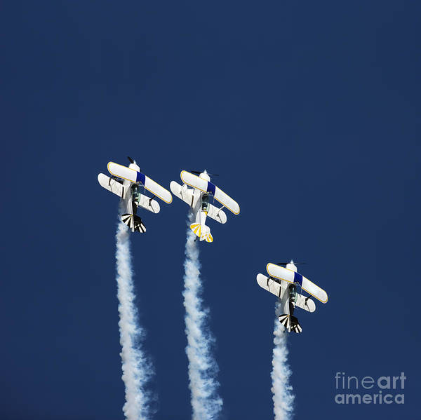 Show Photograph - Three Aerobatic Aeroplanes Flying by Johan Swanepoel