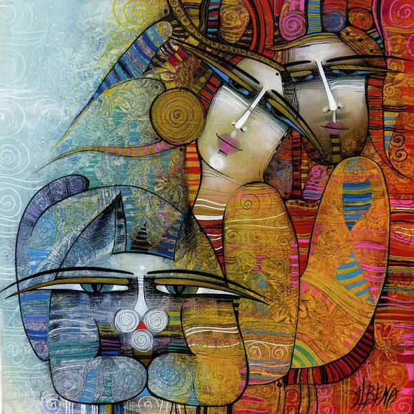 Wall Art - Painting - Three by Albena Vatcheva