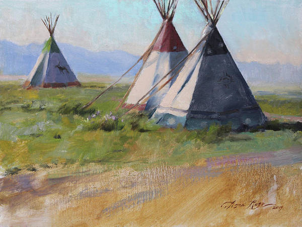 Native American Wall Art - Painting - Three Amigos by Anna Rose Bain
