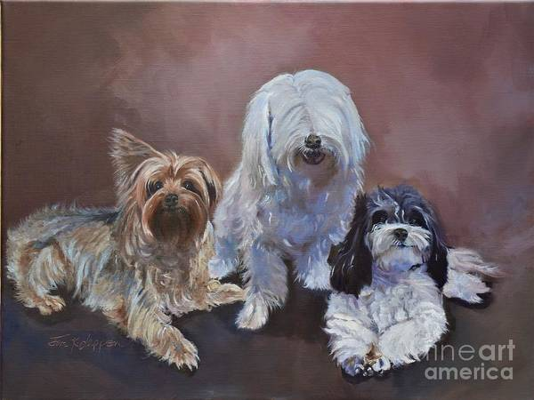 Painting - Three Amigos by Jan Dappen