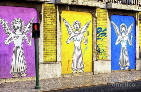 Wall Art - Photograph - Three Angels Lisbon by John Rizzuto