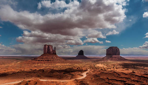May Day Photograph - Three Buttes In Monument Valley by Karsten May