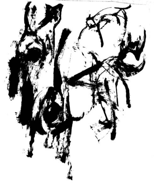 Wall Art - Drawing - Three Cats by Artist Dot