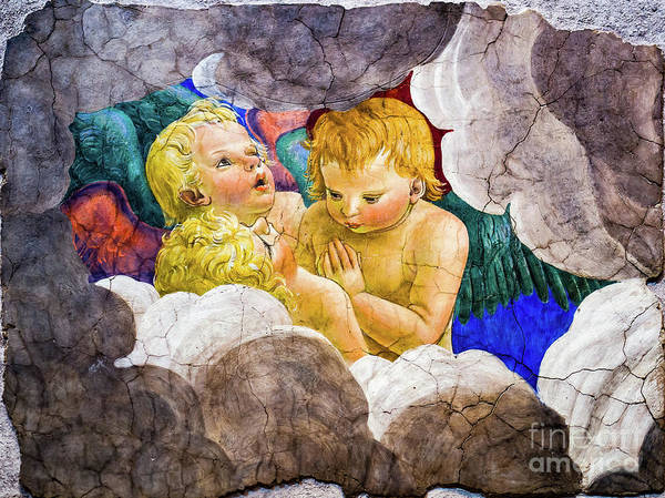 Painting - Three Cherubs by Melozzo da Forti