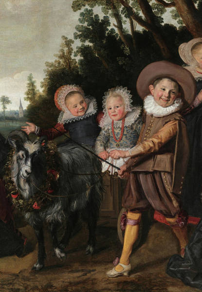 Wall Art - Painting - Three Children With A Goat-cart, 17th Century by Frans Hals