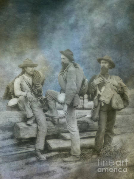Wall Art - Digital Art - Three Confederate Prisoners Gettysburg IIi by Randy Steele