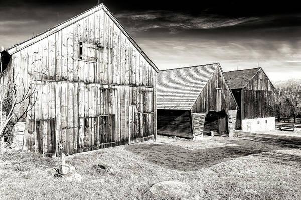 Photograph - Three Country Barns In Bethlehem by John Rizzuto