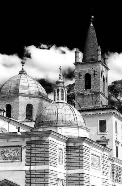 Photograph - Three Cupolas Rome by John Rizzuto