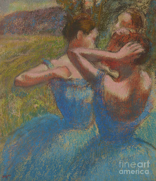 Wall Art - Pastel - Three Dancers, Circa 1897 by Edgar Degas