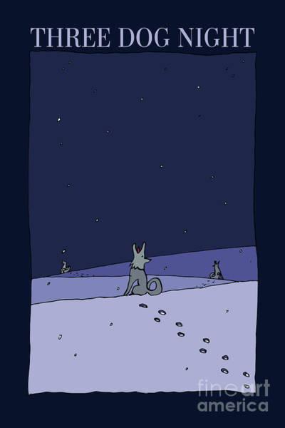 Caricature Mixed Media - Three Dog Night by BlackLineWhite Art