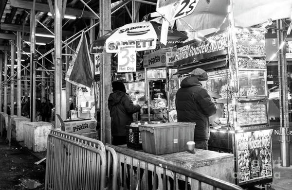 Photograph - Three Dollar Hot Dogs In Times Square by John Rizzuto