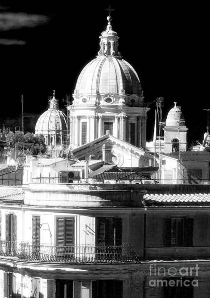 Photograph - Three Domes Rome by John Rizzuto