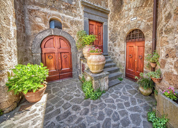 Photograph - Three Doors Of Tuscany by David Letts