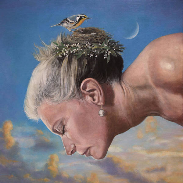 Clovis Painting - Three Eggs by Clovis Rusk