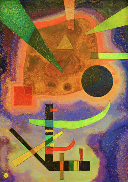 Wall Art - Painting - Three Elements - Digital Remastered Edition by Wassily Kandinsky