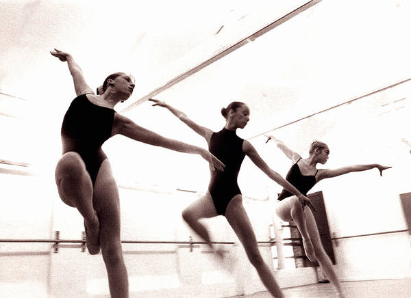 Practice Photograph - Three Female Dancers Practicing In by Ade Groom