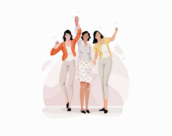 Wall Art - Photograph - Three Girlfriends Having Fun Together by Ikon Images