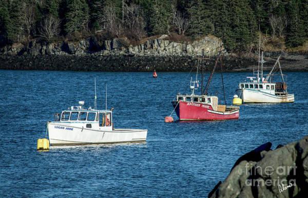 Photograph - Three Lobster Boats by Alana Ranney