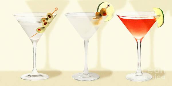 Wall Art - Photograph - Three Martinis Shaken Not Stirred 20180925 Long by Wingsdomain Art and Photography