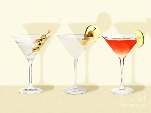 Wall Art - Photograph - Three Martinis Shaken Not Stirred 20180925 by Wingsdomain Art and Photography