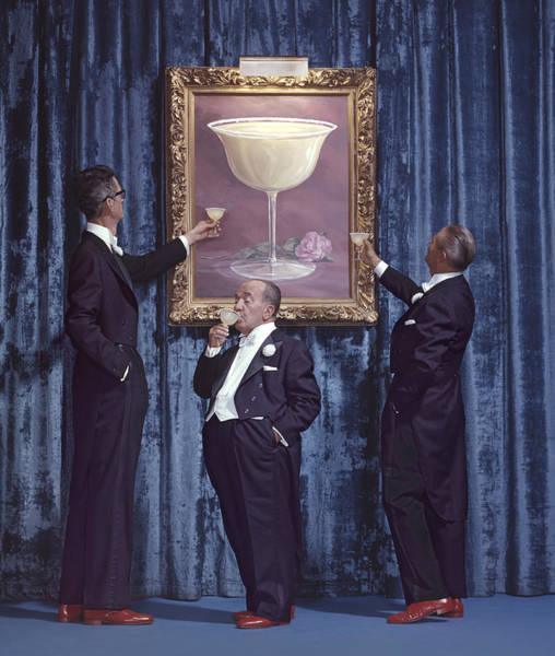 Photograph - Three Men & Their Margaritas by Tom Kelley Archive