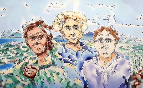 Painting - Three Men by Dave Martsolf