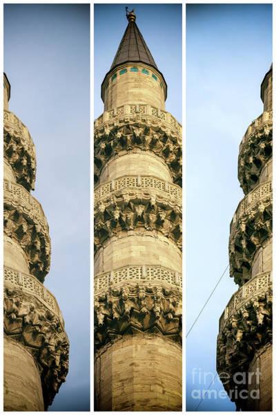 Turkiye Wall Art - Photograph - Three Minaret Rings At The New Mosque Istanbul by John Rizzuto