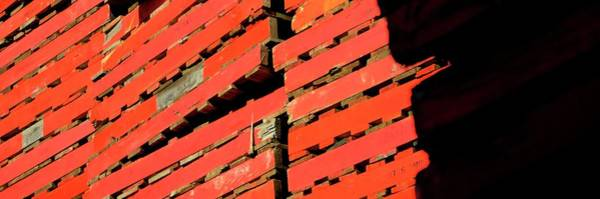 Photograph - Three Pallet Stacks Shadow by Jerry Sodorff