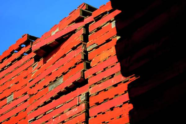 Photograph - Three Pallets Stacks by Jerry Sodorff