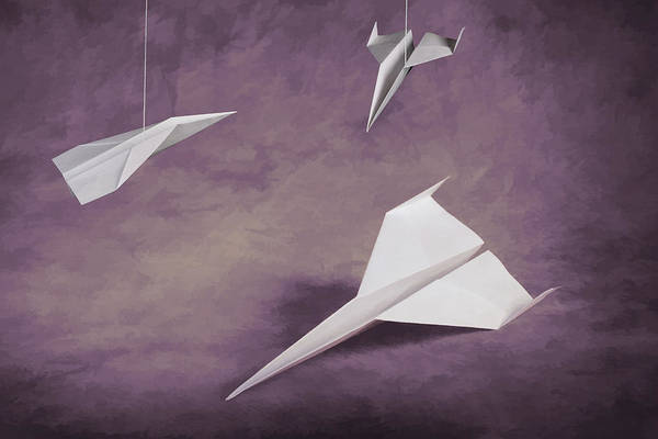 Wall Art - Photograph - Three Paper Airplanes by Tom Mc Nemar