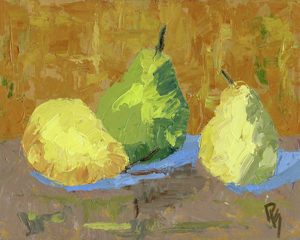 Painting - Three Pears by David King