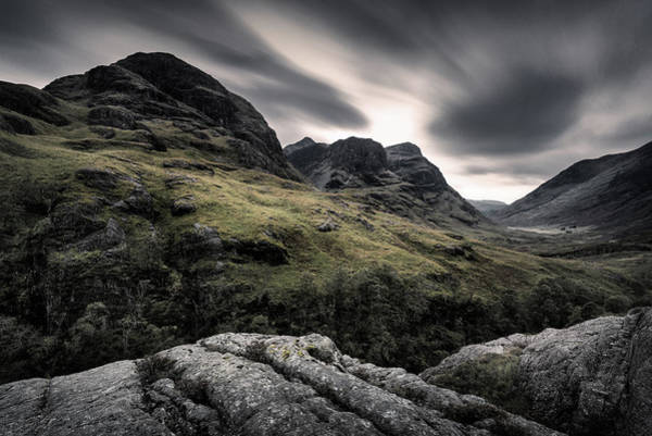 Glencoe Photograph - Three Sisters by Dave Bowman