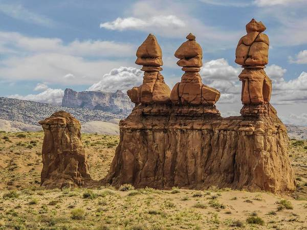 Photograph - Three Sisters Hoodoos Goblin Valley State Park by NaturesPix