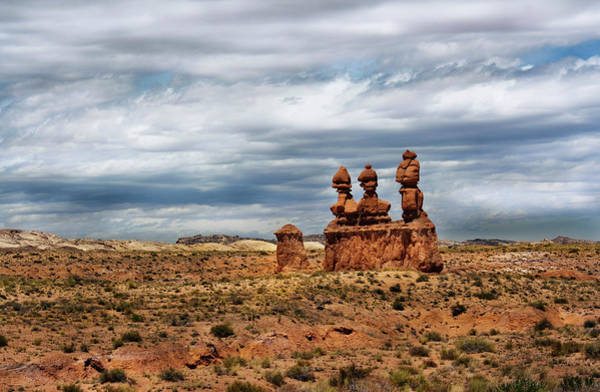 Goblin Valley State Park Photograph - Three Sisters In Goblin Valley by Charlene Heslop