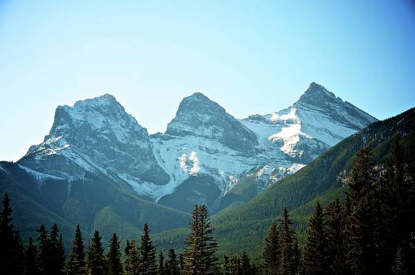 Canmore Wall Art - Photograph - Three Sisters Mountains by Lynn.h.armstrong Photography