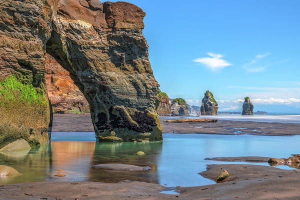Plymouth Rock Photograph - Three Sisters - New Zealand by Joana Kruse