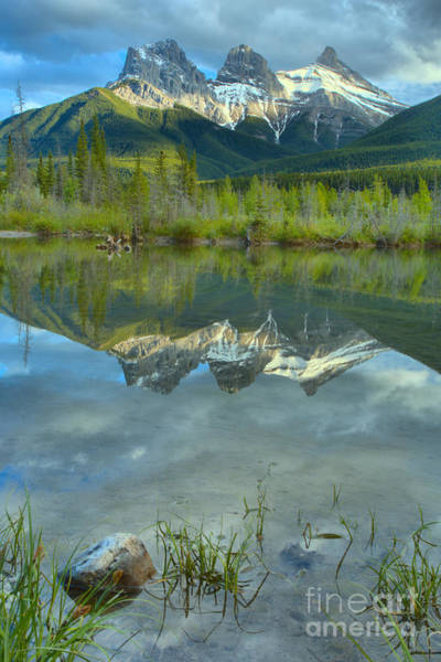 Photograph - Three Sisters Reflection Portrait by Adam Jewell