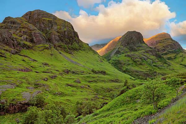 Photograph - Three Sisters Sunrise - Glen Coe - Scotland by Jason Politte