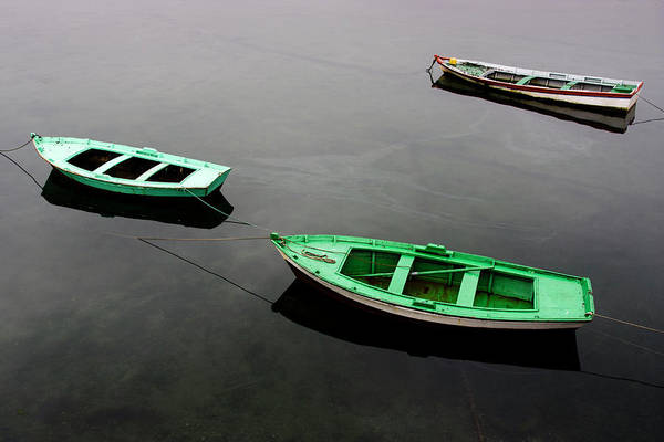 Galicia Photograph - Three Small Fishing Boats Resting by © Santiago Urquijo