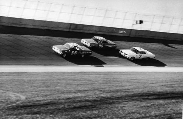 Sport Photograph - Three Stock Cars Racing On Track by Frederic Lewis