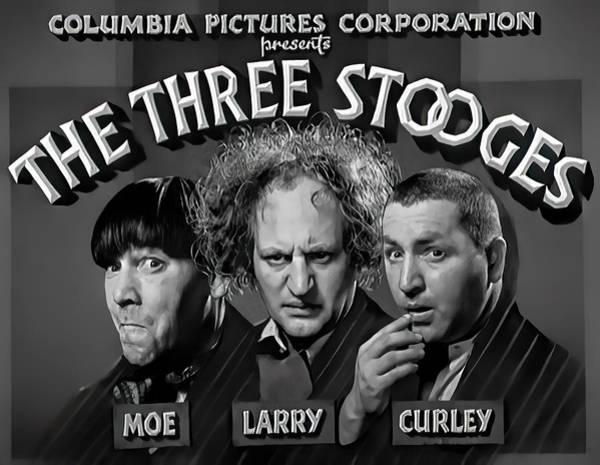 Wall Art - Photograph - Three Stooges Title Still C. 1935 by Daniel Hagerman