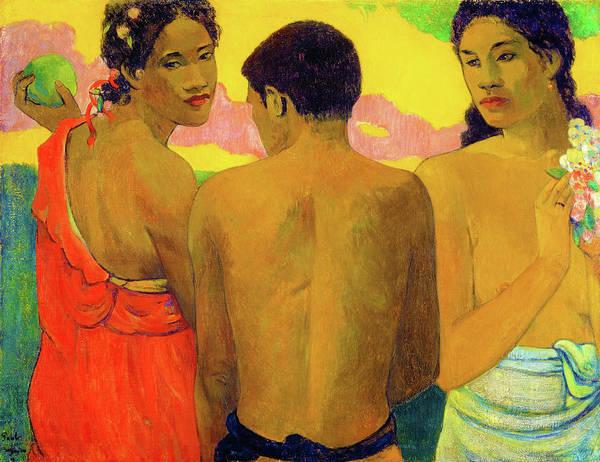 Wall Art - Painting - Three Tahitians - Digital Remastered Edition by Paul Gauguin
