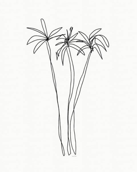 Woods Drawing - Three Tall Palm Trees- Art By Linda Woods by Linda Woods