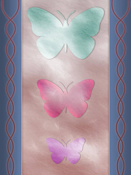 Digital Art - Three Tier Butterfly With Colors by Jason Fink
