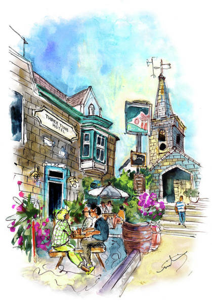 Painting - Three Tuns Hotel In Helston by Miki De Goodaboom