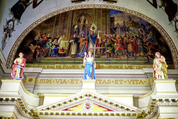 Wall Art - Photograph - Three Virtues At St. Louis Cathedral In New Orleans by John Rizzuto